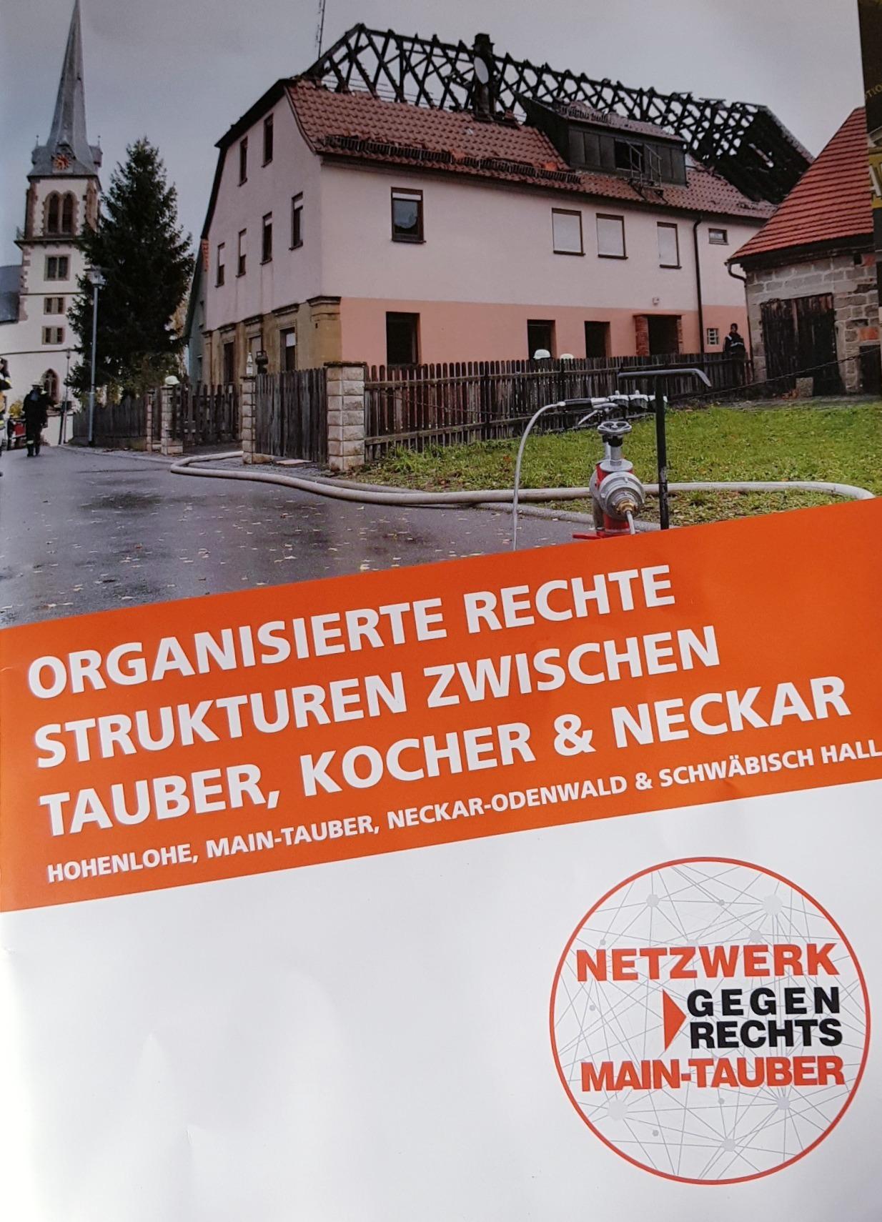 Broschüre Organisierterechte Strukturen zwischen Tauber, Kocher und Neckar
