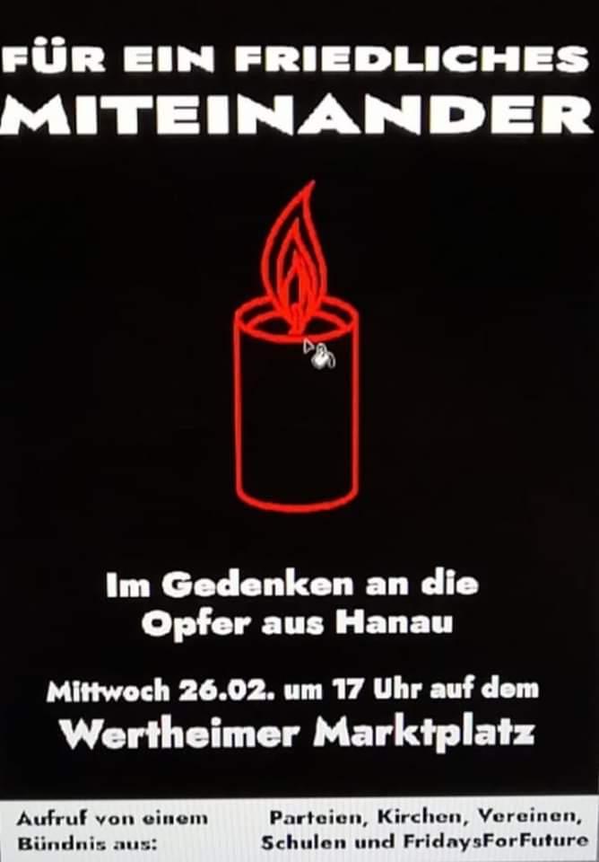 Gedenkveranstaltung Wertheim 26.02.2020