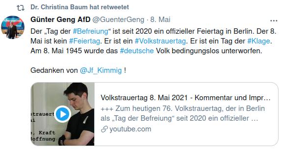Screenshot Twitter Christian Baum 08.05.2021